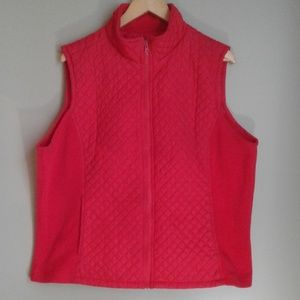 Izod size 1X red quilted vest